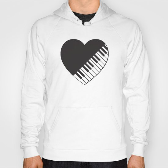Piano Heart Hoody