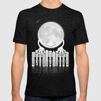 City Tunes Mens Fitted Tee Tri-Black SMALL