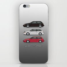 Stack of Volvo 480 Turbos iPhone & iPod Skin