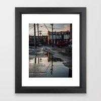 Look Back Framed Art Print