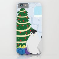 Penguins on Christmas Morning iPhone 6 Slim Case