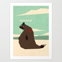 W is for walrus Art Print