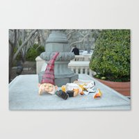 Shattered Travel Gnome Canvas Print