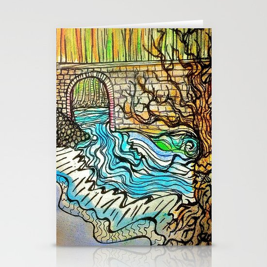 WATER UNDER THE BRIDGE Stationery Card