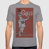 Salt Lake Gulls Mens Fitted Tee Athletic Grey SMALL