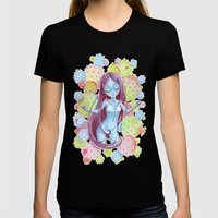 Cactus Nymph Womens Fitted Tee Black SMALL