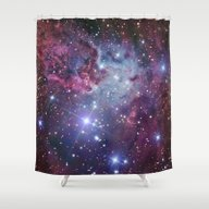 Nebula Galaxy Shower Curtain