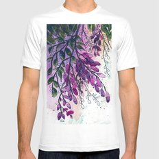 Wisteria-ish SMALL Mens Fitted Tee White