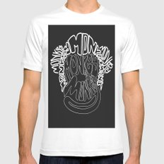 Monkey White Mens Fitted Tee SMALL