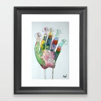 Hand-Eye Framed Art Print