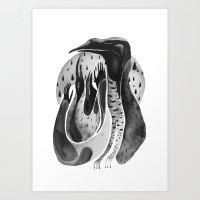 Bird Ink Art Print
