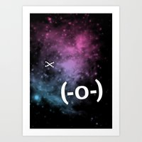 Typospacechase Art Print