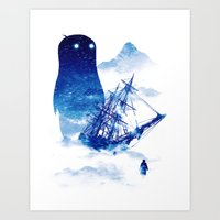 ship Art Prints featuring Abandon Ship by Niel Quisaba