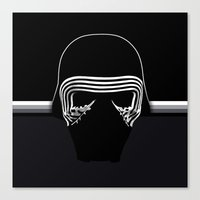 the new villain's helmet, kylo ren Canvas Print
