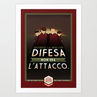 Poster Nostalgica - Difesa Milan Art Print