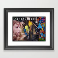Coachella 2011 Collage Framed Art Print