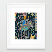 Framed Art Prints featuring The Rider by Planet Hinterland