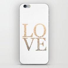 GOLD LOVE iPhone & iPod Skin