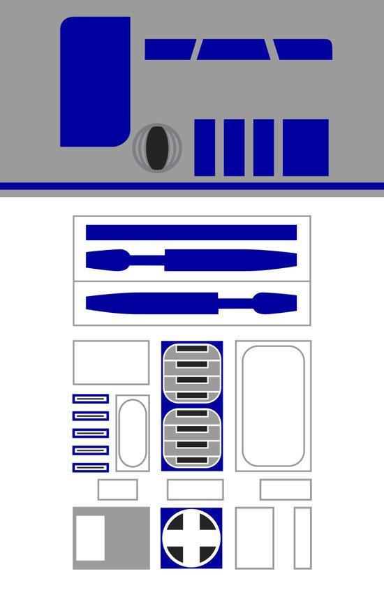 Star Wars R2D2 Vector Art Print