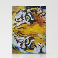 Tiger Psy Trance Stationery Cards