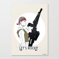 Let's Rock!  Canvas Print