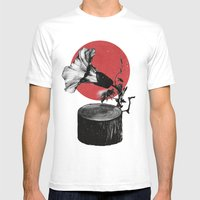 Gramophone Mens Fitted Tee White SMALL