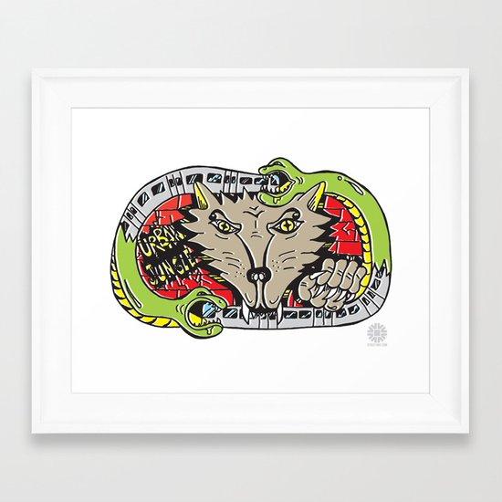 FUZI X STREETART.COM Framed Art Print
