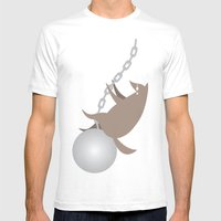 Wreckingwolf Mens Fitted Tee White SMALL