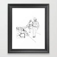 Pepper Spray(Illustratio… Framed Art Print