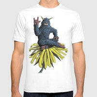 Monster On Oblique Dande… Mens Fitted Tee White SMALL