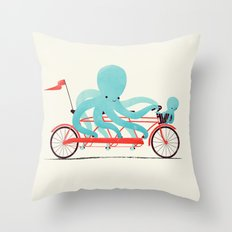 My Red Bike Throw Pillow