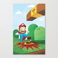 Mario Mess Canvas Print