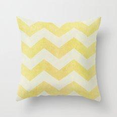 Sun-Kissed Chevron Throw Pillow