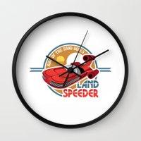 Landspeeder Wall Clock