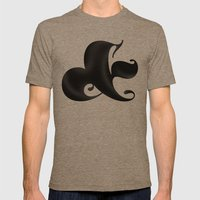 Bold Ampersand Mens Fitted Tee Tri-Coffee SMALL