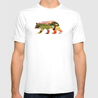 Gone Fishing. Mens Fitted Tee White SMALL