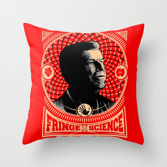 Walter Bishop - Fringe Science (RED) Throw Pillow