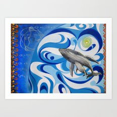 cosmic whale Art Print