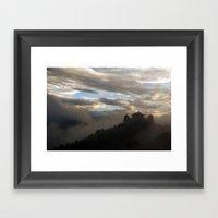 Temple at Dawn Framed Art Print