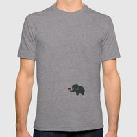 Elliefant Mens Fitted Tee Athletic Grey SMALL