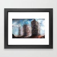 Desert hotel Framed Art Print