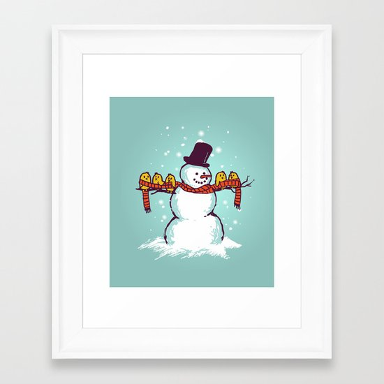 Sharing is caring (Winter edition) Framed Art Print