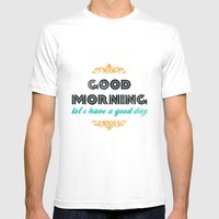 Good Morning, Let's Have… Mens Fitted Tee White SMALL