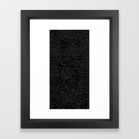 Cluster of Black Roses Framed Art Print