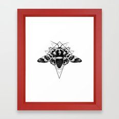 Geometric Moth Framed Art Print