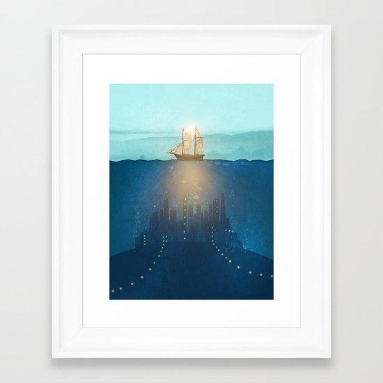 The Underwater City Framed Art Print