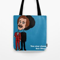 Ron Burgandy Tote Bag