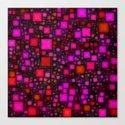 Post It Pink Glow Canvas Print