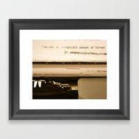 You Are An Acceptable Am… Framed Art Print