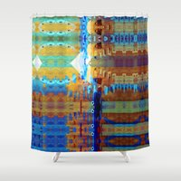 But thoughts folded out. Shower Curtain